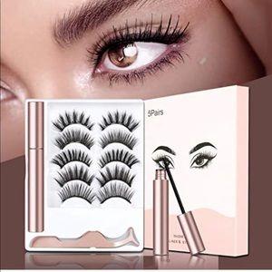 5 Pairs False Magnetic Eyelashes Kit New